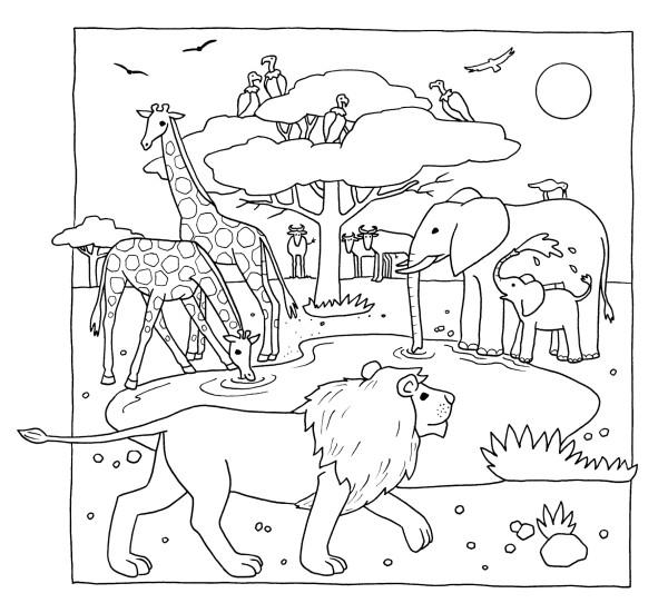 Erfreut Tiere Von Afrika Malvorlagen Zeitgenössisch - Ideen färben ...